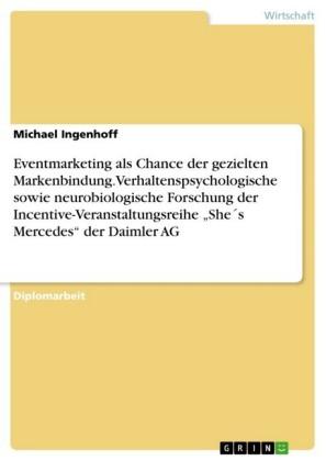 Eventmarketing als Chance der gezielten Markenbindung. Verhaltenspsychologische sowie neurobiologische Forschung der Incentive-Veranstaltungsreihe 'She's Mercedes' der Daimler AG