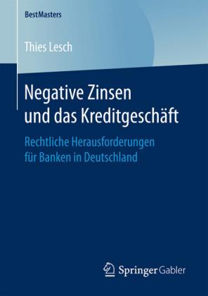 Negative Zinsen und das Kreditgeschäft