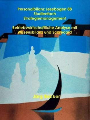 Personalbilanz Lesebogen 88 Studienfach Strategiemanagement