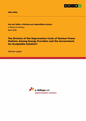 The Division of the Depreciation Costs of Nuclear Power Stations Among Energy Providers and the Government. An Acceptable Solution?