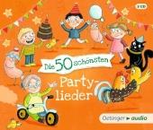 Die 50 schönsten Partylieder, 3 Audio-CDs Cover