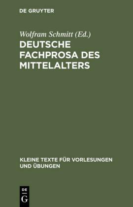 Deutsche Fachprosa des Mittelalters
