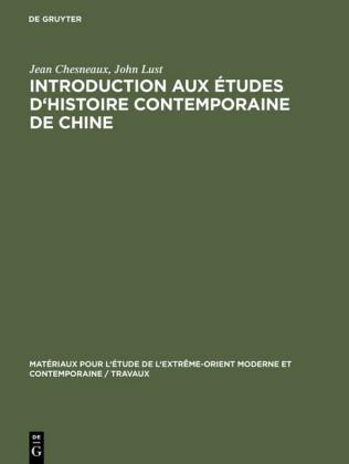 Introduction aux études d'histoire contemporaine de Chine