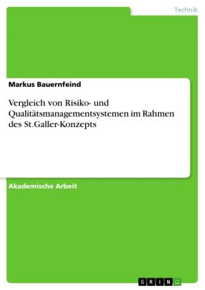 Vergleich von Risiko- und Qualitätsmanagementsystemenim Rahmen des St.Galler-Konzepts
