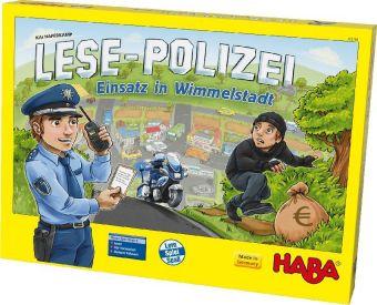 Lese-Polizei-Einsatz in Wimmelstadt (Kinderspiel)