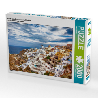 Blick vom Lontza-Kastell in Oia (Puzzle)