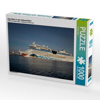 Aida Stella in der Hafeneinfahrt (Puzzle)