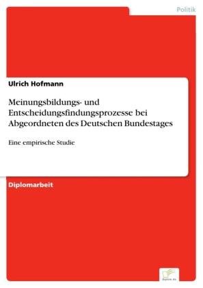 Meinungsbildungs- und Entscheidungsfindungsprozesse bei Abgeordneten des Deutschen Bundestages