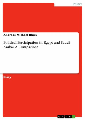Political Participation in Egypt and Saudi Arabia. A Comparison
