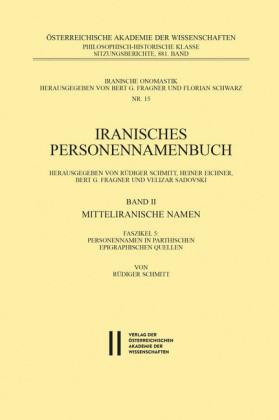Iranisches Personennamenbuch Band II/Faszikel 5: Mitteliranische Namen