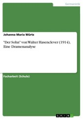 'Der Sohn' von Walter Hasenclever (1914), Eine Dramenanalyse