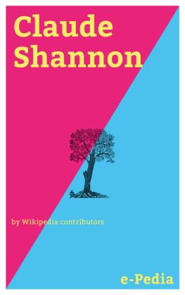 e-Pedia: Claude Shannon