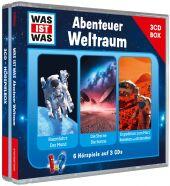 Was ist was Hörspielbox: Abenteuer Weltraum, 3 Audio-CDs Cover