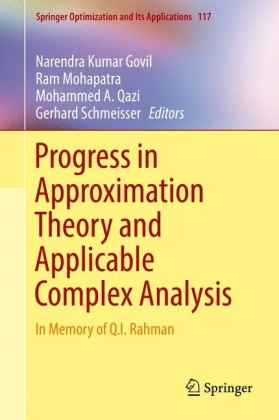 Progress in Approximation Theory and Applicable Complex Analysis