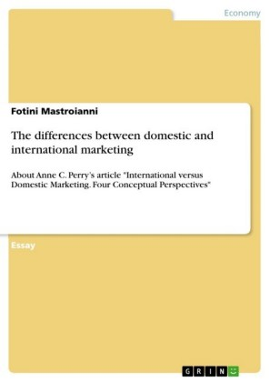 The differences between domestic and international marketing