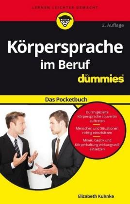 Korpersprache im Beruf für Dummies Das Pocketbuch
