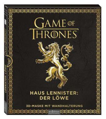 Game of Thrones - Haus Lennister: Löwe, 3D-Maske mit Wandhalterung
