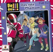 Die drei !!! - Das rote Phantom, 1 Audio-CD Cover