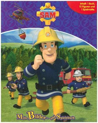 Feuerwehrmann Sam, Spielbuch + 12 Spielfiguren + Spielmatte