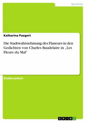 Die Stadtwahrnehmung des Flaneurs in den Gedichten von Charles Baudelaire in 'Les Fleurs du Mal'
