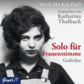 Solo für Frauenstimme, 1 Audio-CD Cover