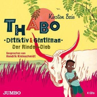 Thabo. Detektiv & Gentleman - Der Rinder-Dieb, 4 Audio-CD