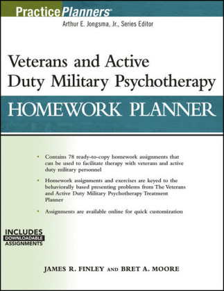 Veterans and Active Duty Military Psychotherapy Homework Planner