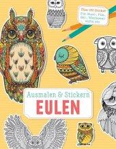 Ausmalen & Stickern: Eulen
