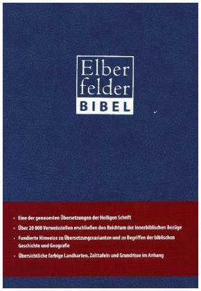 Elberfelder Bibel 2006, Standardausgabe ital. Kunstleder blau