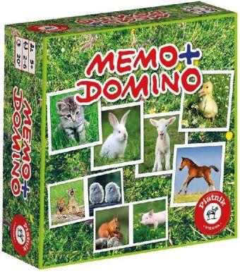 Memo + Domino Tierbabies (Kinderspiel)