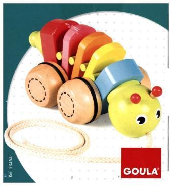 Jumbo Spiele Zieh-Raupe Holzspielzeug