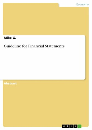 Guideline for Financial Statements