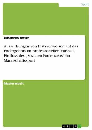 Auswirkungen von Platzverweisen auf das Endergebnis im professionellen Fußball. Einfluss des 'Sozialen Faulenzens' im Mannschaftssport