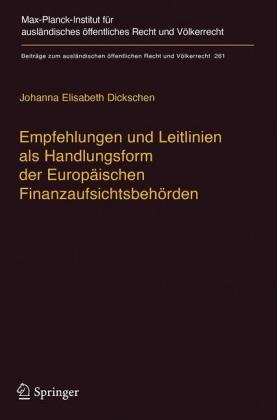 Empfehlungen und Leitlinien als Handlungsform der Europäischen Finanzaufsichtsbehörden