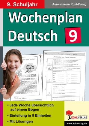 Wochenplan Deutsch / Klasse 9