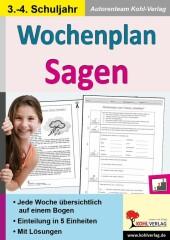 Wochenplan Sagen / Klasse 3-4