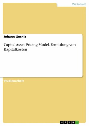 Capital Asset Pricing Model. Ermittlung von Kapitalkosten