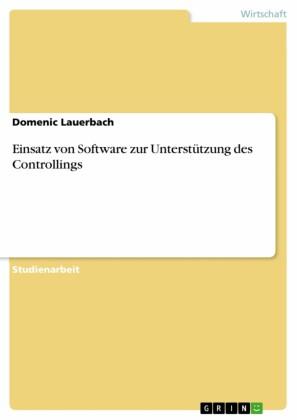 Einsatz von Software zur Unterstützung des Controllings