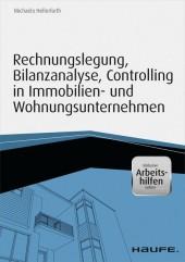 Rechnungslegung, Bilanzanalyse, Controlling in Immobilien- und Wohnungsunternehmen - inkl. Arbeitshilfen online