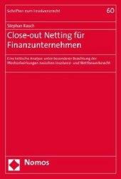 Close-out Netting für Finanzunternehmen