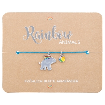 Armband - Rainbow Animals - Elefant