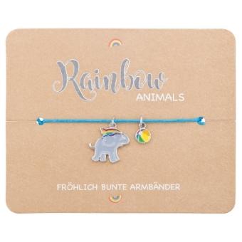 Armband - Rainbow Animals - Elefant