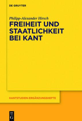 Freiheit und Staatlichkeit bei Kant