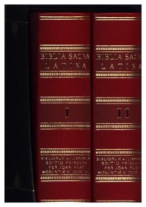 Biblia Sacra Latina - Gutenberg-Bibel, 2 Teile