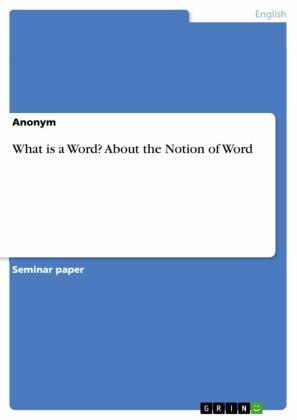 What is a Word? About the Notion of Word