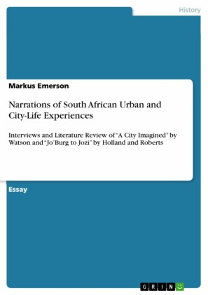 Narrations of South African Urban and City-Life Experiences