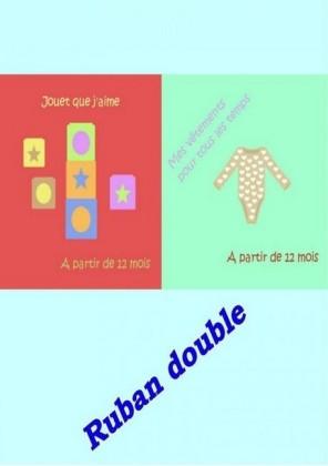 Ruban double - Jouets et Vêtements pour les tout-petits