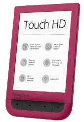 Pocketbook Touch HD ruby red, E-Book Reader