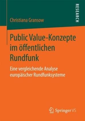 Public Value-Konzepte im öffentlichen Rundfunk