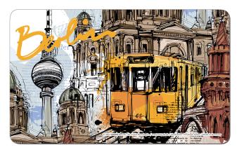 Frühstücksbrettchen Berlin Grafik